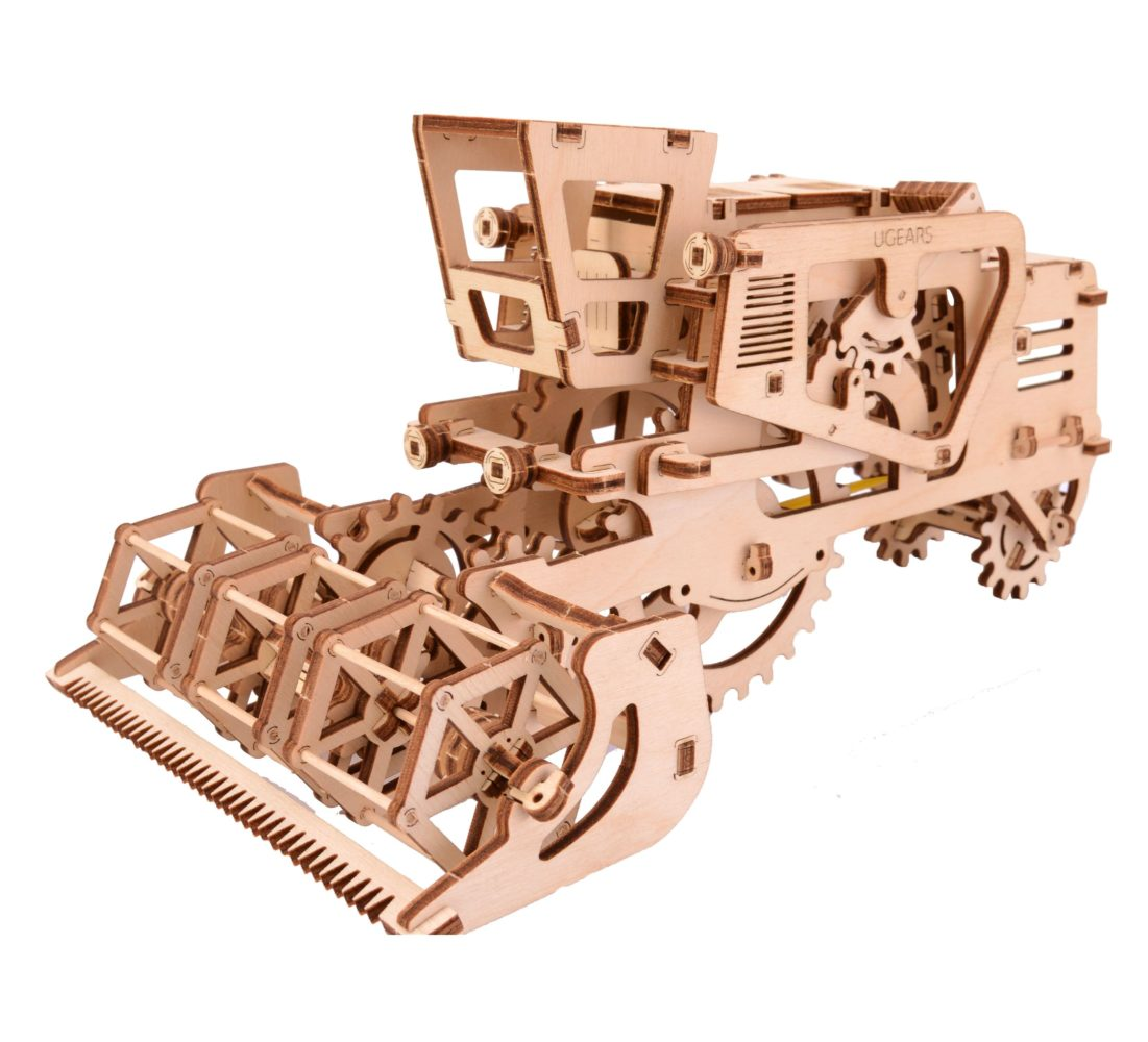 UGears Mechanical Wooden Model 3D Puzzle Kit Combine Harvester