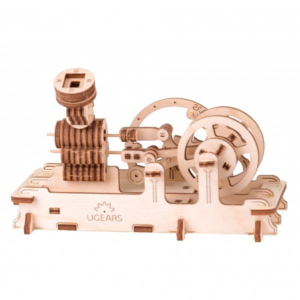 UGears Mechanical Wooden Model 3D Puzzle Kit Pneumatic Engine