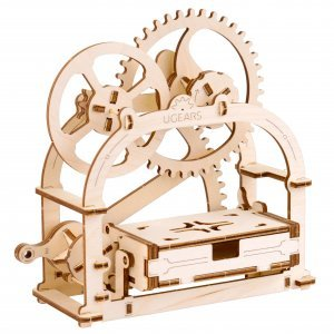 UGears Mechanical Wooden Model 3D Puzzle Kit Mechanical Etui Box