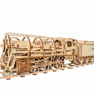 UGears Mechanical Wooden Model 3D Puzzle Kit Steam Locomotive