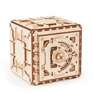 UGears Mechanical Wooden Model 3D Puzzle Kit Safe