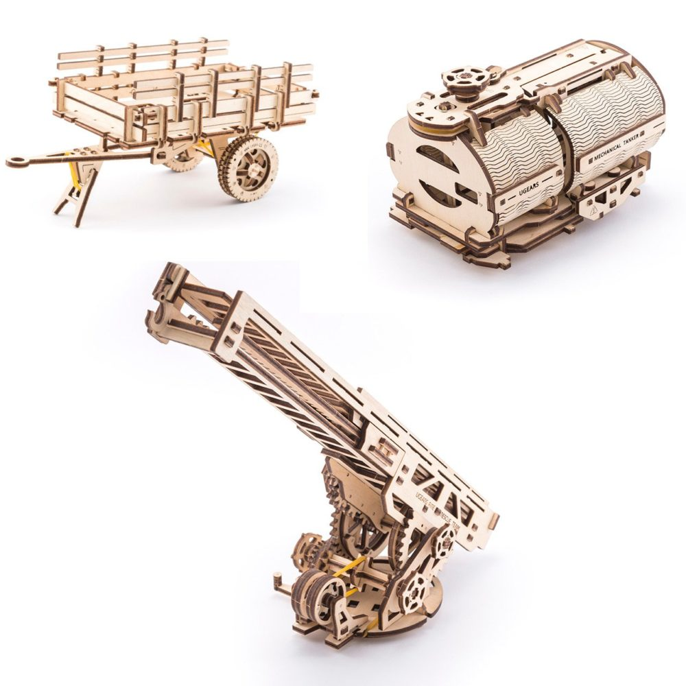 UGears Mechanical Wooden Model 3D Puzzle Kit Additions To Truck
