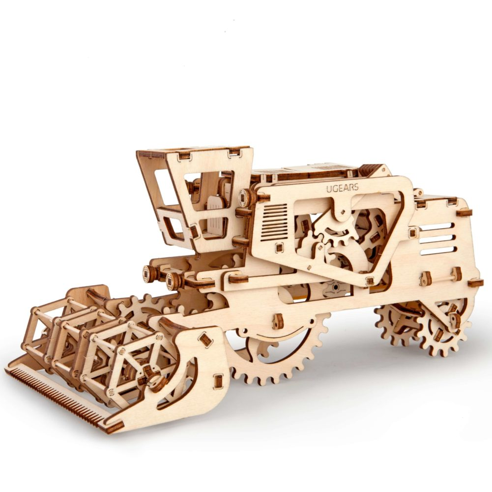 ugears combine harvester kit mechanical 3d model