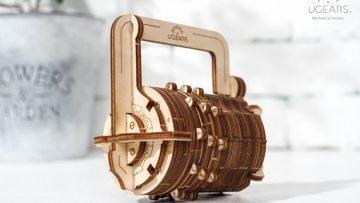 UGears Mechanical Wooden Model 3D Puzzle Kit Combination Lock