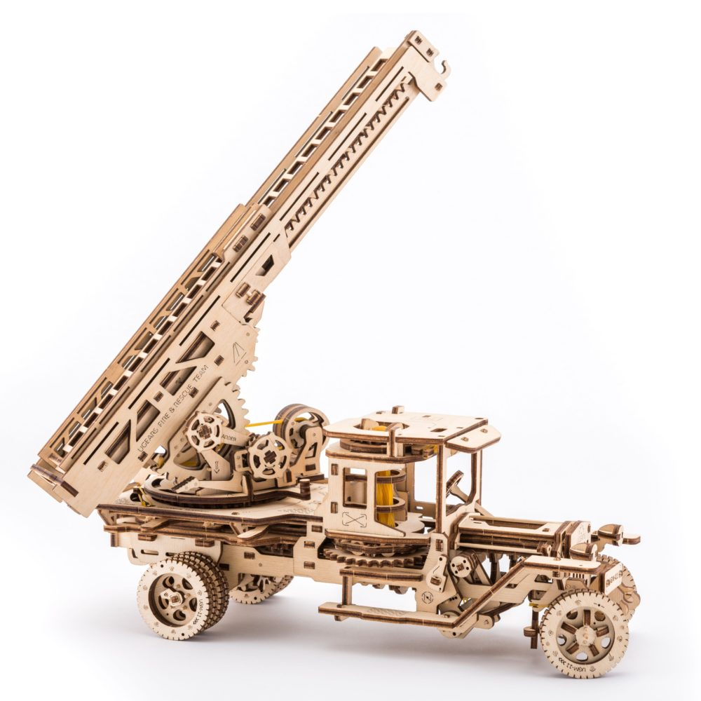 UGears Mechanical Wooden Model 3D Puzzle Kit Fire Truck