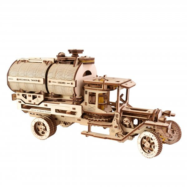 UGears Mechanical Wooden Model 3D Puzzle Kit Tanker