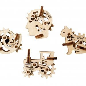 UGears Mechanical Wooden Model 3D Puzzle Kit Tribiks