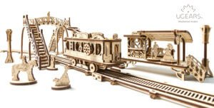Ugears is happy to present the first  model from the new Mechanical Town Series- Tram Line 1