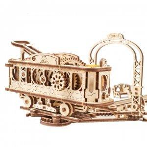 UGears Mechanical Wooden Model 3D Puzzle Kit Tram Line Model