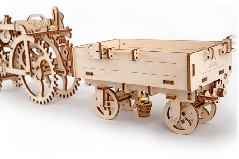 UGears Mechanical Wooden Model 3D Puzzle Kit Tractor`s Trailer