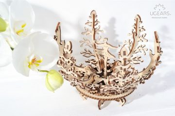 UGears Mechanical Wooden Model 3D Puzzle Kit Flower