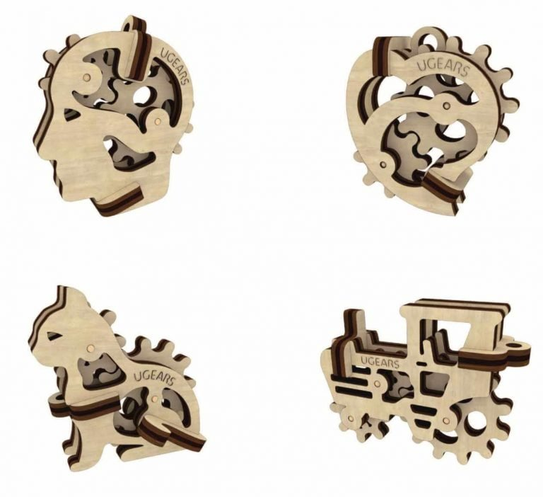 UGears Mechanical Wooden Model 3D Puzzle Kit Tribiks