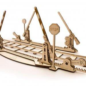 UGears Mechanical Wooden Model 3D Puzzle Kit Rails