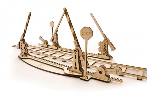 UGears Mechanical Wooden Model 3D Puzzle Kit Rails