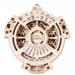 UGears Mechanical Wooden Model 3D Puzzle Kit Date Navigator