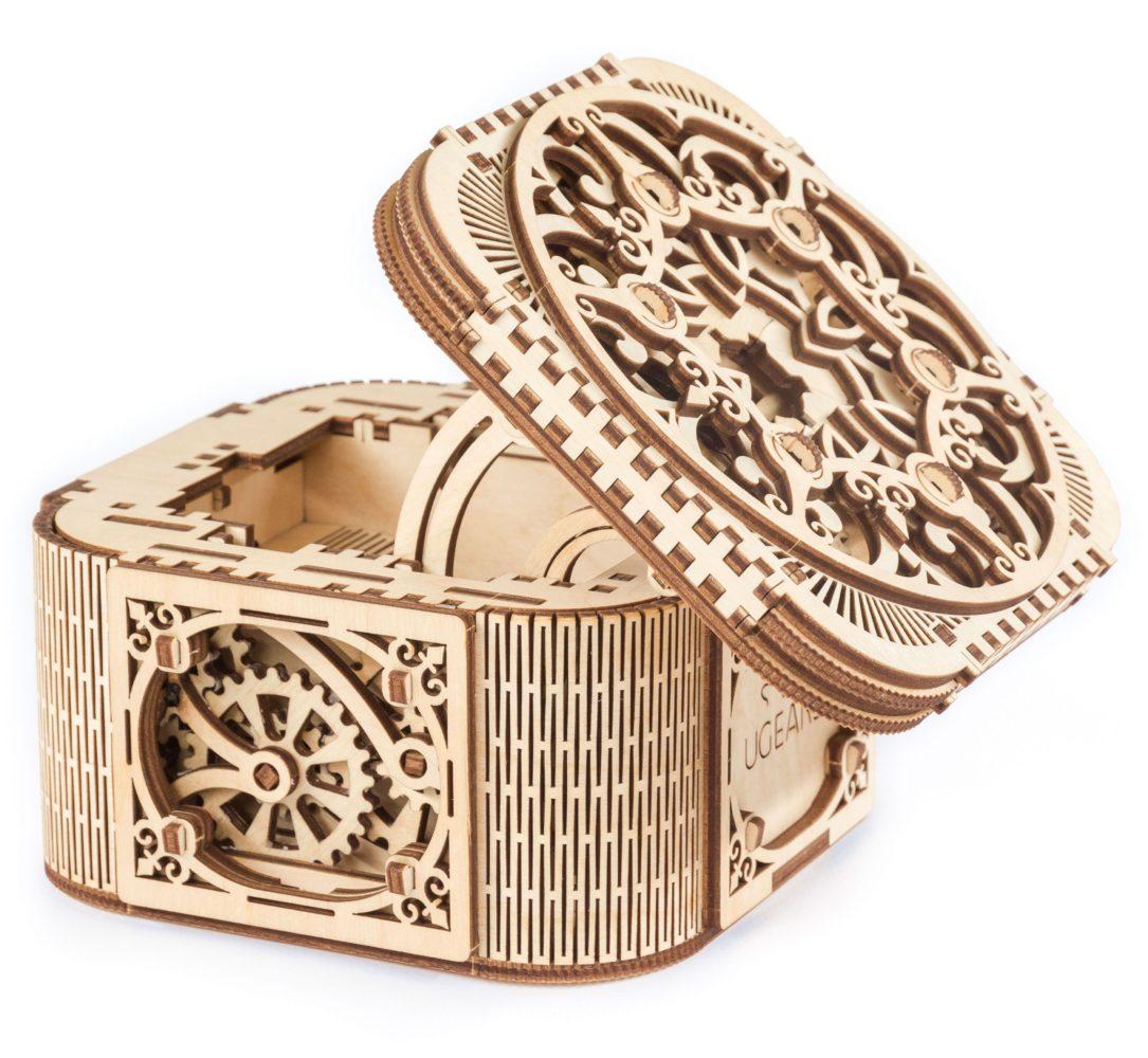 Ugears treasure box mechanical 3d jewelry box puzzle solutioingenieria Images