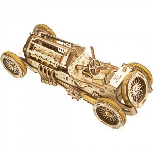 UGears Mechanical Wooden Model 3D Puzzle Kit U-9 Grand Prix Car