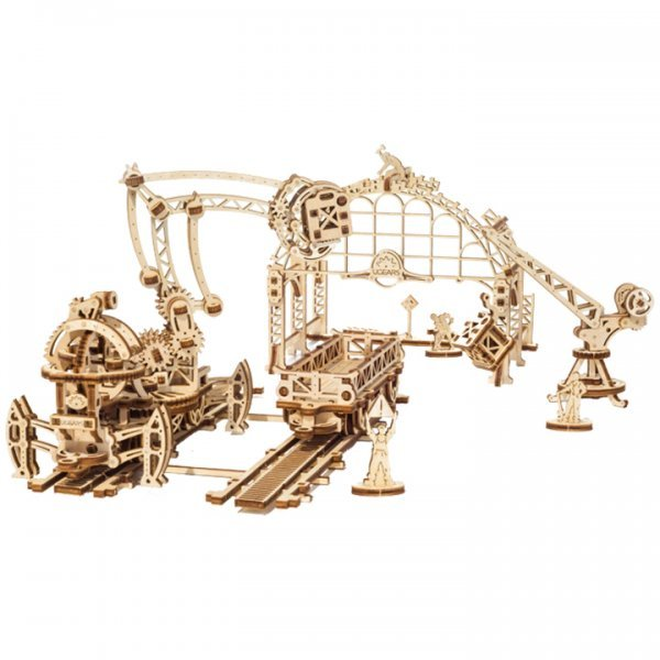 UGears Mechanical Wooden Model 3D Puzzle Kit Rail Manipulator