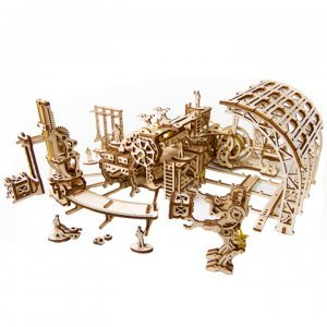 UGears Mechanical Wooden Model 3D Puzzle Kit Robot Factory