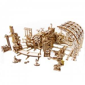 UGears Mechanical Wooden Model 3D Puzzle Kit Robot Factory