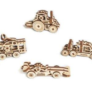 UGears Mechanical Wooden Model 3D Puzzle Kit U-Fidgets-Tribiks Vehicles