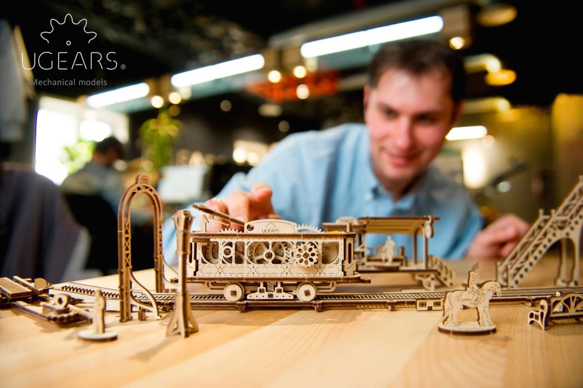 Ugears is happy to present the first  model from the new Mechanical Town Series- Tram Line 3