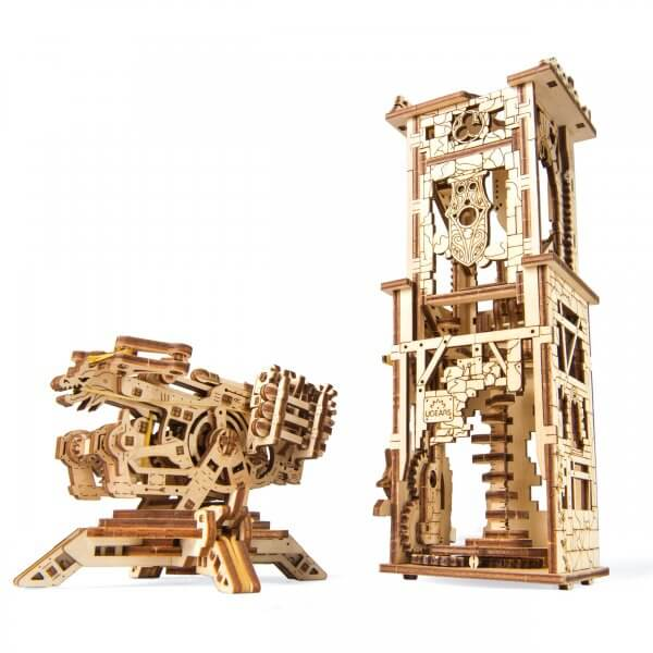 UGears Mechanical Wooden Model 3D Puzzle Kit Archballista-Tower