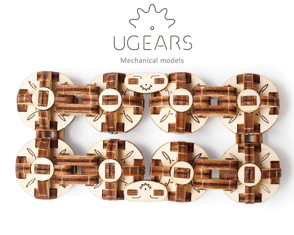 UGears FLEXI-CUBUS mechanical wooden model KIT 3D puzzle