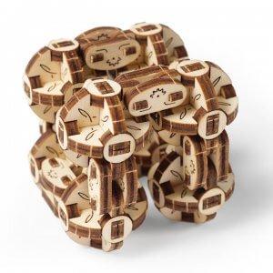 UGears Mechanical Wooden Model 3D Puzzle Kit Flexi-Cubus