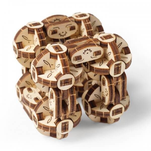 UGears Mechanical Wooden Model 3D Puzzle Kit Flexi-Cubus