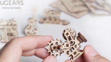 UGears Mechanical Wooden Model 3D Puzzle Kit U-Fidgets Creations