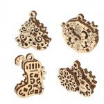 UGears Mechanical Wooden Model 3D Puzzle Kit U-Fidgets Happy New Gears