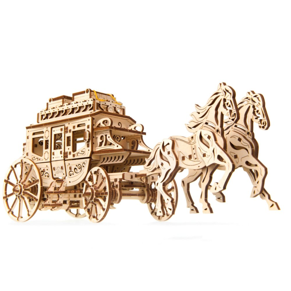 Create a Wild West atmosphere with UGEARS Stagecoach 2