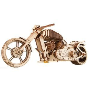 UGears Mechanical Wooden Model 3D Puzzle Kit Bike VM-02