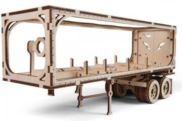 UGears Mechanical Wooden Model 3D Puzzle Kit Heavy Boy Truck VM-03 Trailer