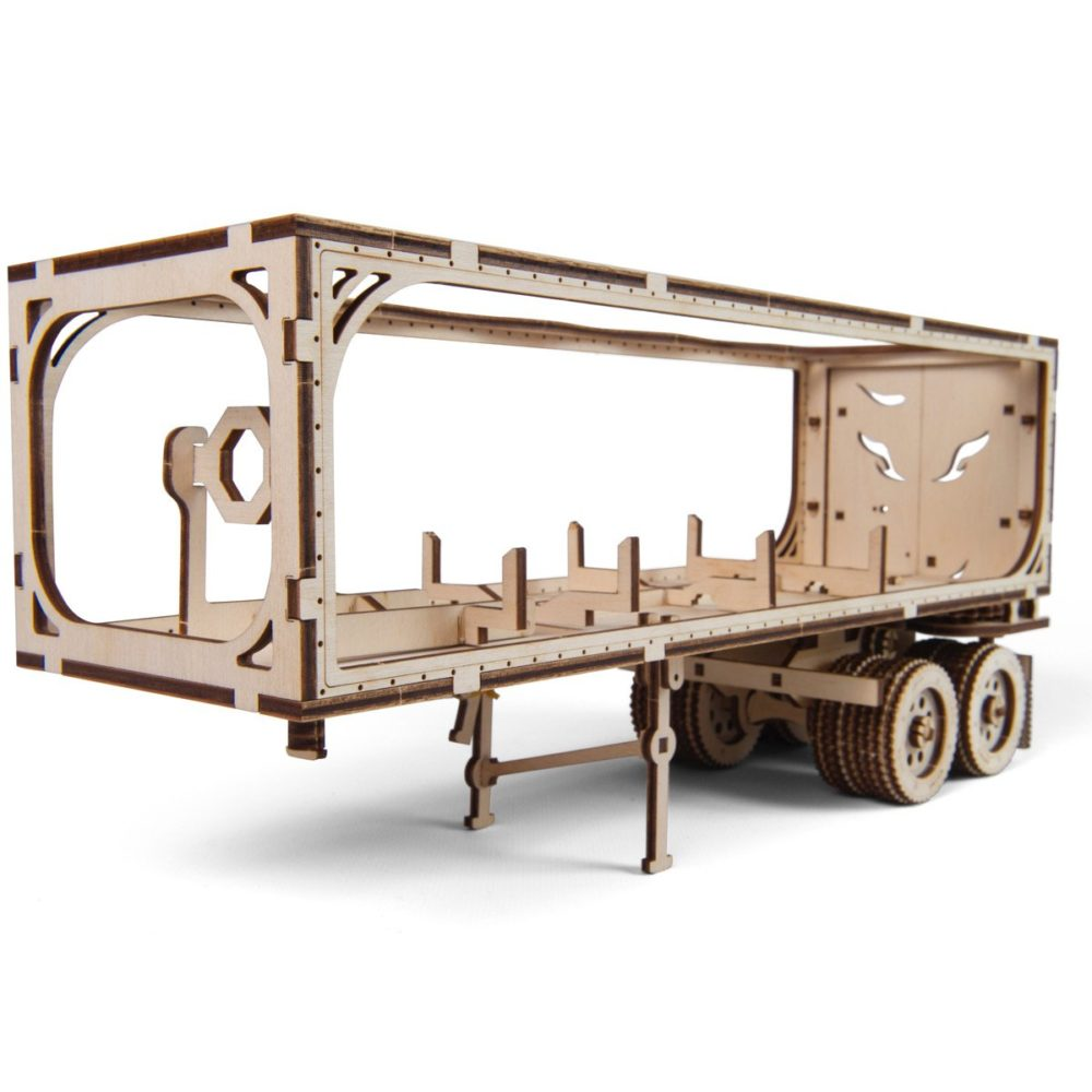 UGears Mechanical Wooden Model 3D Puzzle Kit Heavy Boy Truck VM-03 Trailer