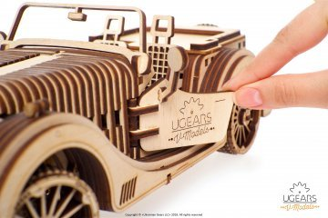 UGears Mechanical Wooden Model 3D Puzzle Kit Roadster VM-01
