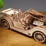UGears Mechanical Wooden Model 3D Puzzle Kit Roadster VM-01