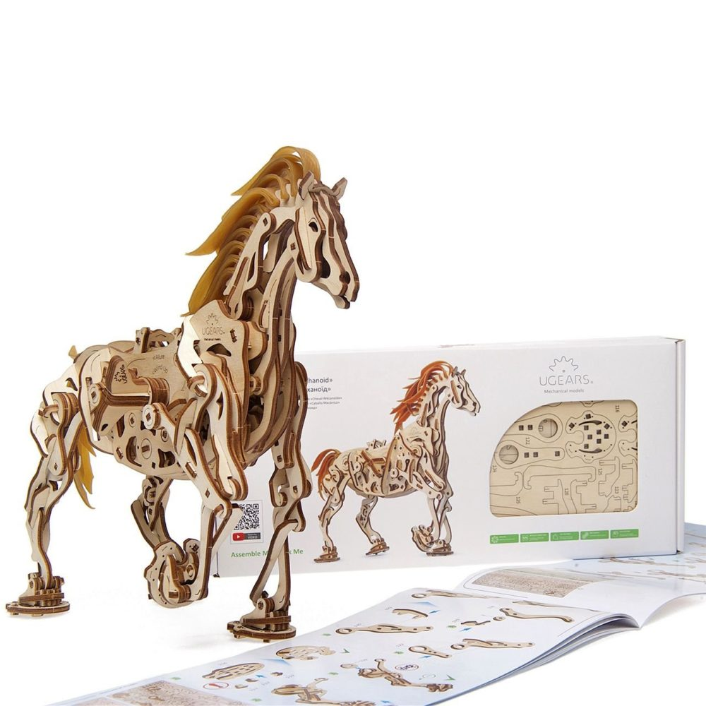 UGears Mechanical Wooden Model 3D Puzzle Kit Horse Mechanoid