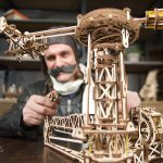 UGears Mechanical Wooden Model 3D Puzzle Kit Aviator