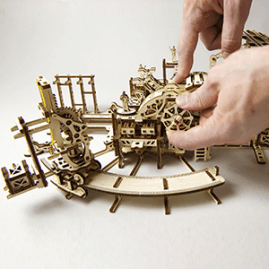 UGears Mechanical Wooden Model 3D Puzzle Kit Game Master's Screen