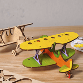 UGears Mechanical Wooden Model 3D Puzzle Kit Whale, Bear Cub, Bouquet, Cockerel and Rocking Horse