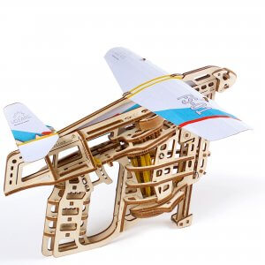 UGears Mechanical Wooden Model 3D Puzzle Kit Flight Starter