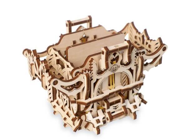 UGears Mechanical Wooden Model 3D Puzzle Kit Deck Box