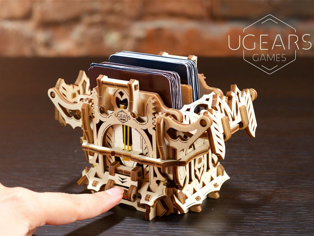 UGears Deck Box and Dice Keeper for tabletop RPG games 1