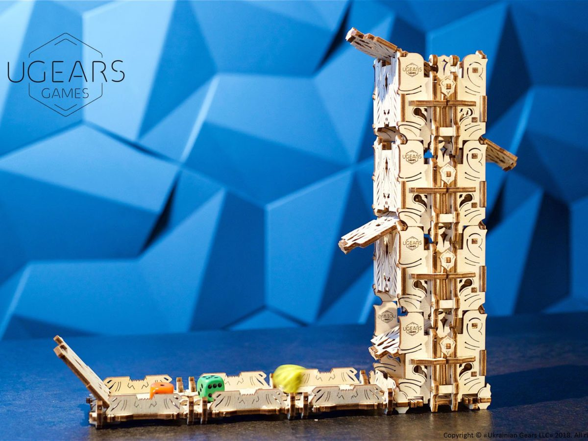 UGears Mechanical Wooden Model 3D Puzzle Kit Modular Dice Tower