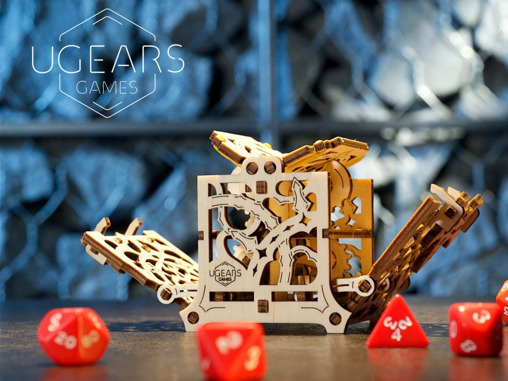 UGears Deck Box and Dice Keeper for tabletop RPG games 2