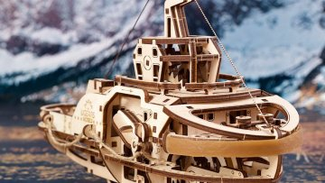 UGears Mechanical Wooden Model 3D Puzzle Kit Tugboat