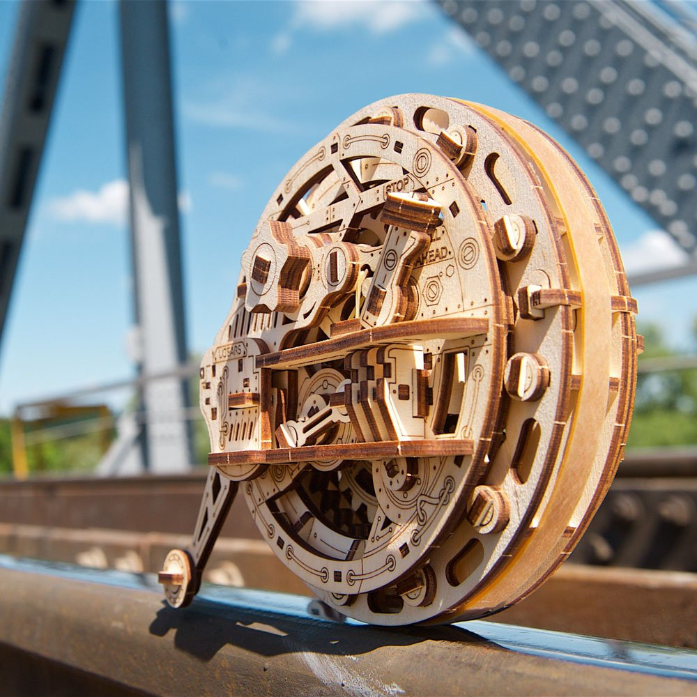UGears Mechanical Wooden Model 3D Puzzle Kit Monowheel