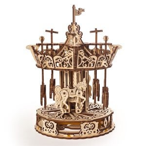 UGears Mechanical Wooden Model 3D Puzzle Kit Carousel